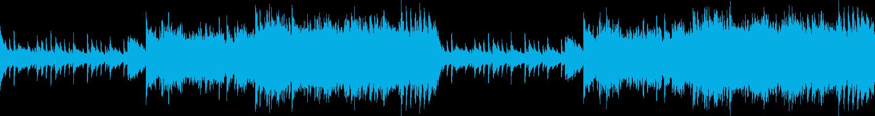 ピアノとオーケストラの静かなヒーリングの再生済みの波形