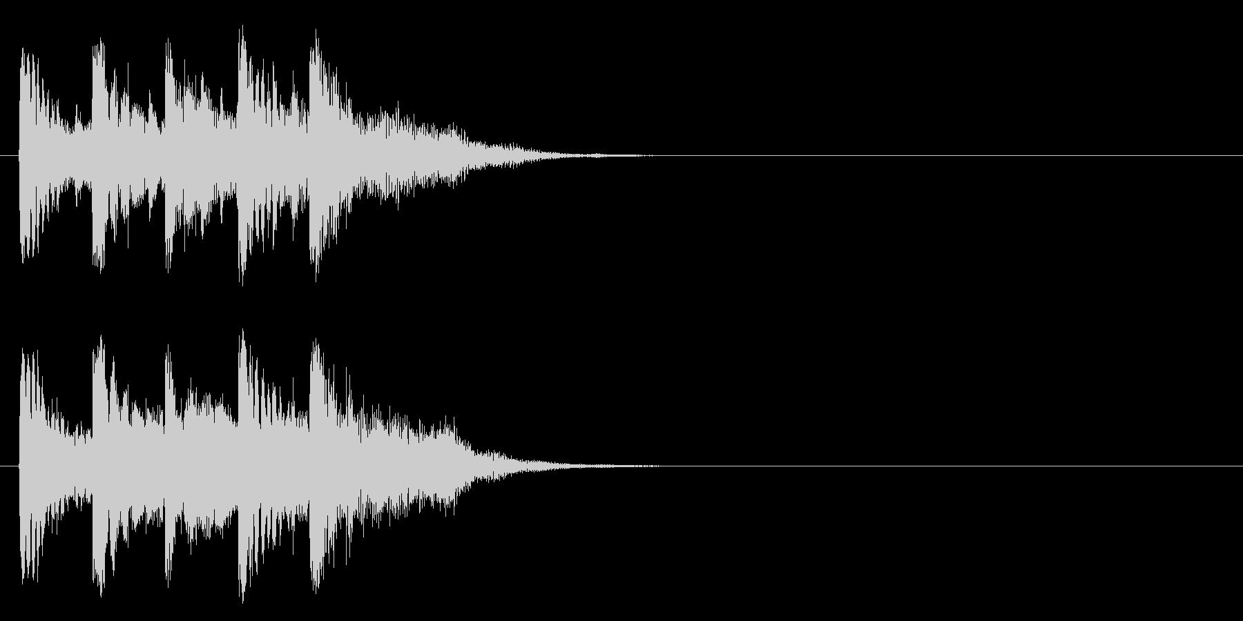 ジングル/アタック(ポップ/マイナー)の未再生の波形