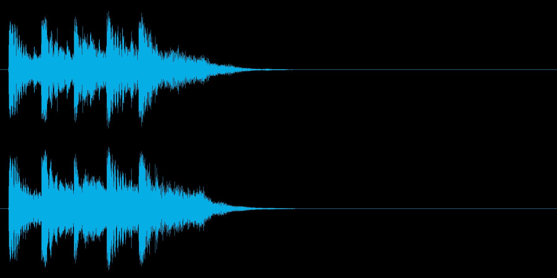 ジングル/アタック(ポップ/マイナー)の再生済みの波形