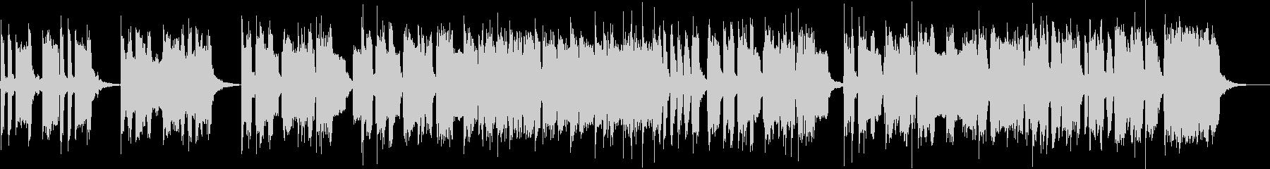 楽しげなサックス4重奏の未再生の波形