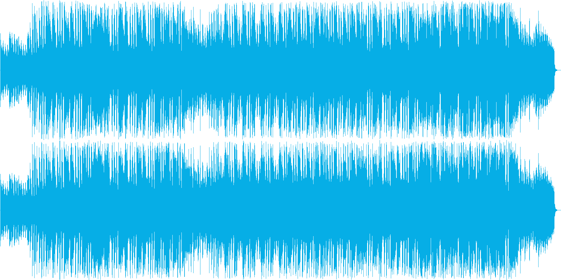 ほのぼのしたシンセ管楽器サウンドの再生済みの波形