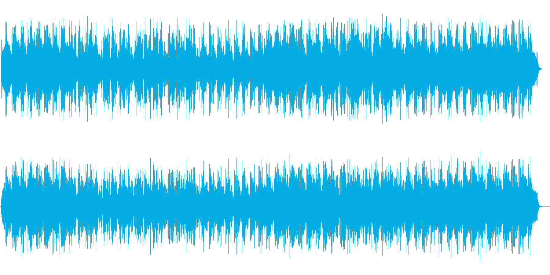 ゆったりとしたシンセサイザーのポップスの再生済みの波形