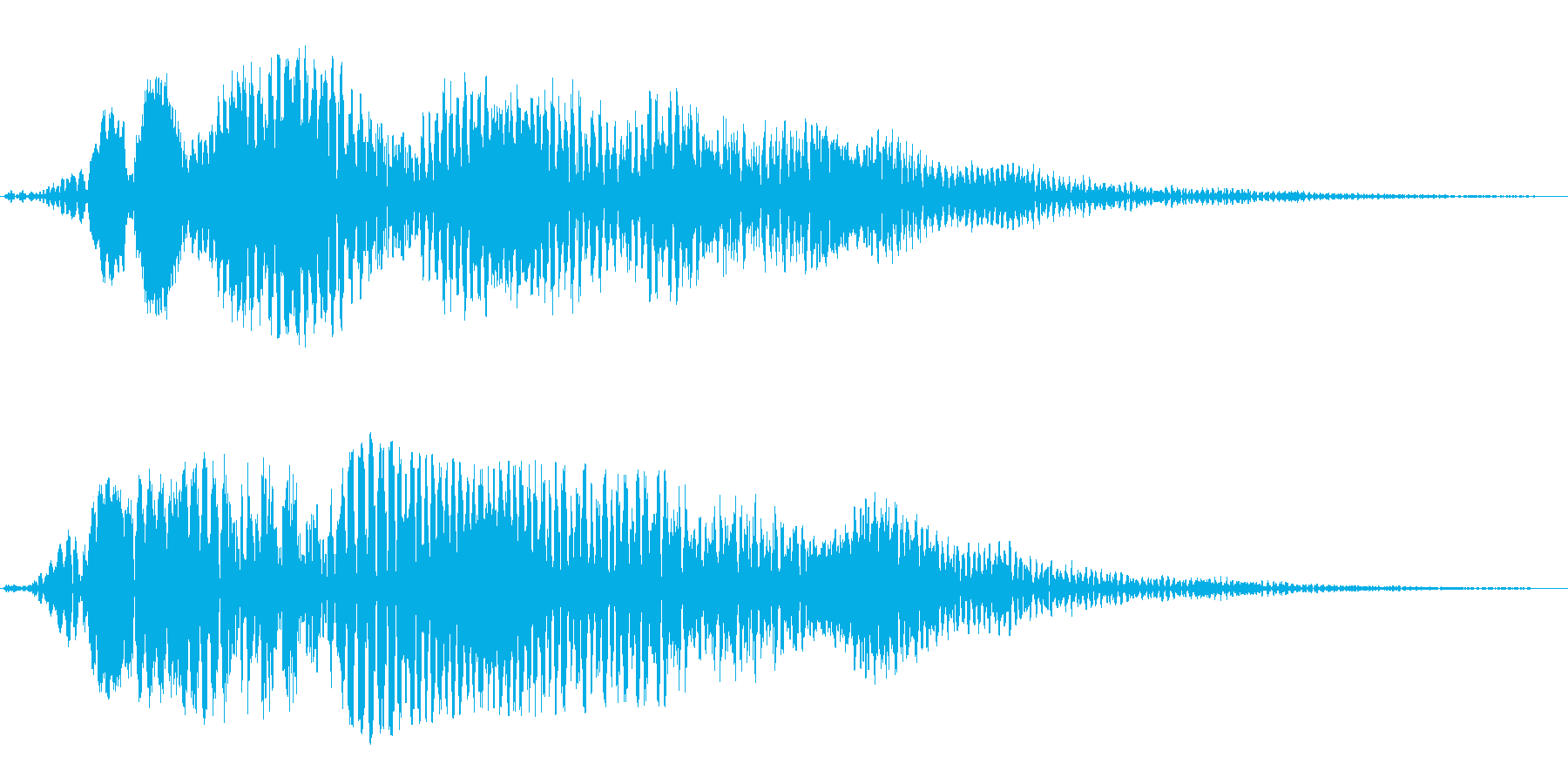 フワーンとした巨大惑星音の再生済みの波形