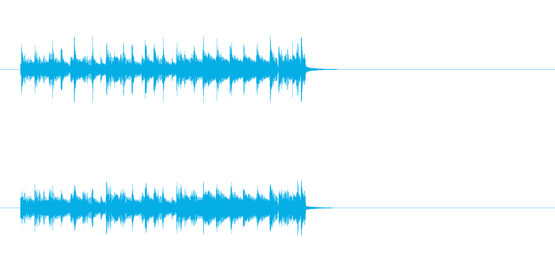 クールでかっこいいラテン系ジングルの再生済みの波形
