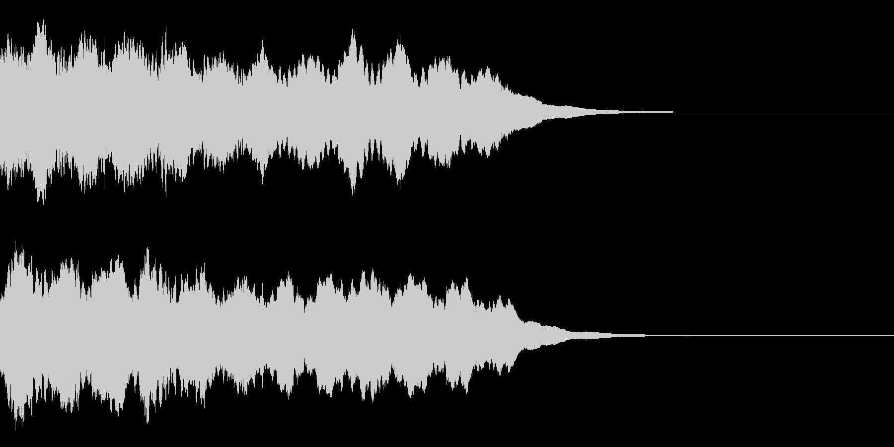 サイレン音02の未再生の波形