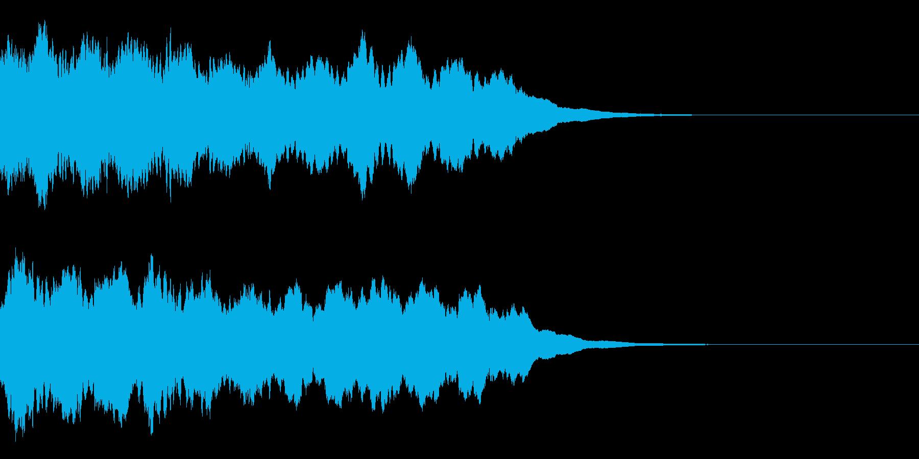 サイレン音02の再生済みの波形