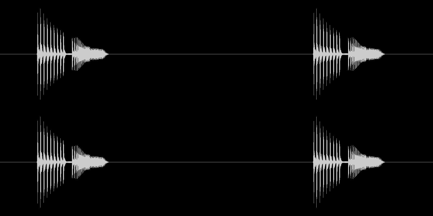 「ピヨピヨ (電子音)」の未再生の波形