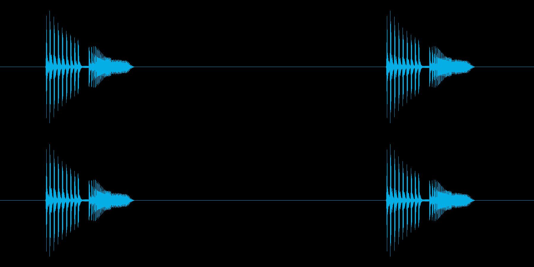 「ピヨピヨ (電子音)」の再生済みの波形