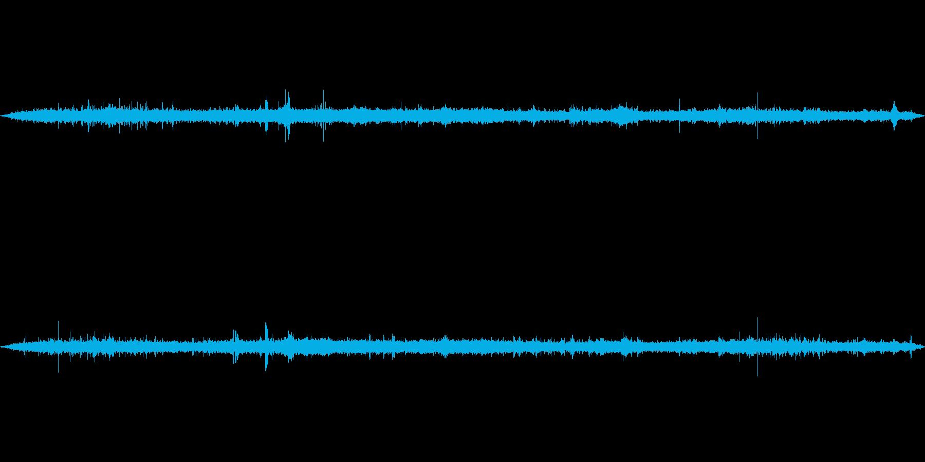 環境音-雑踏(バイノーラル録音)の再生済みの波形