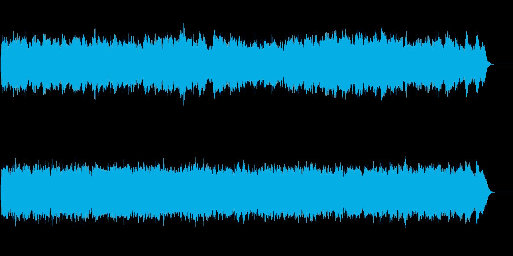 パイプオルガンの荘厳なオリジナル讃美歌の再生済みの波形