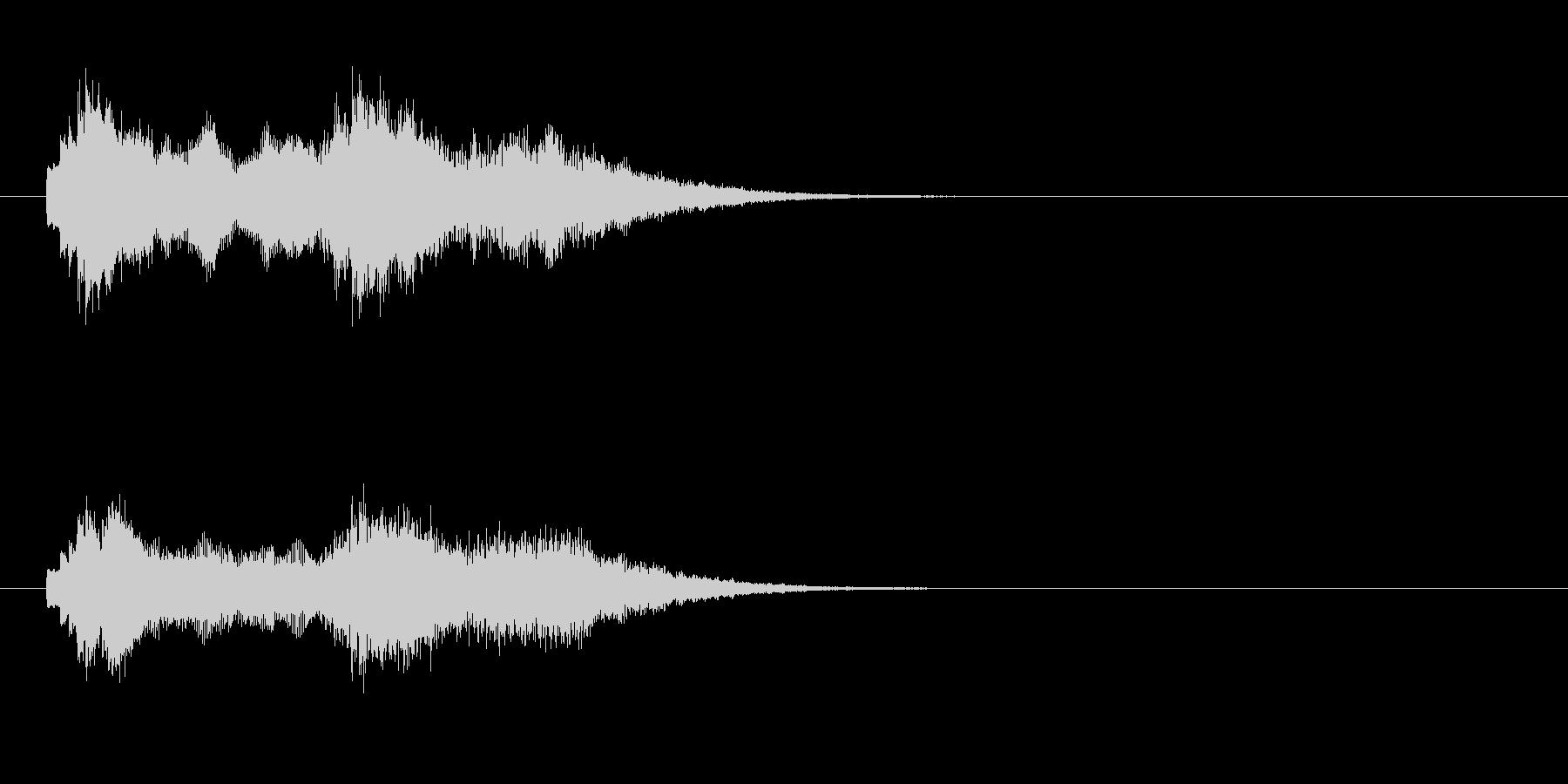 ジングル(アンビエンチック)の未再生の波形