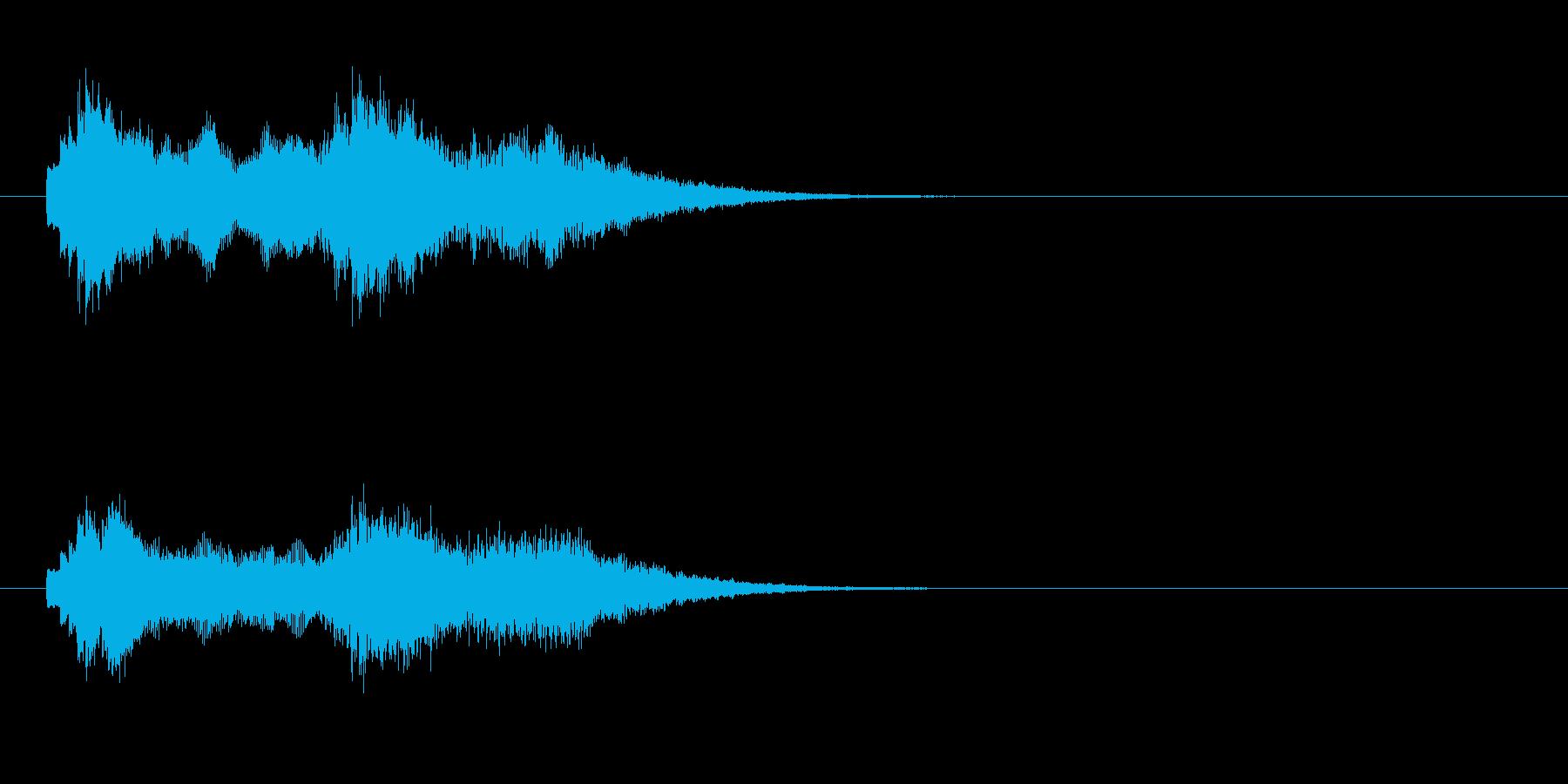ジングル(アンビエンチック)の再生済みの波形