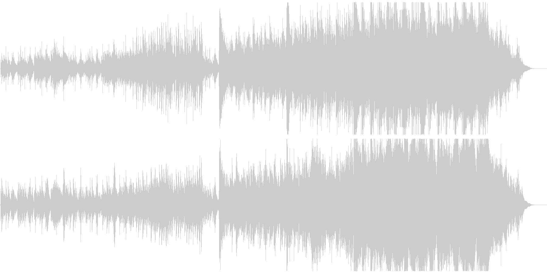 ピアノメインの温かく包み込むような曲の未再生の波形