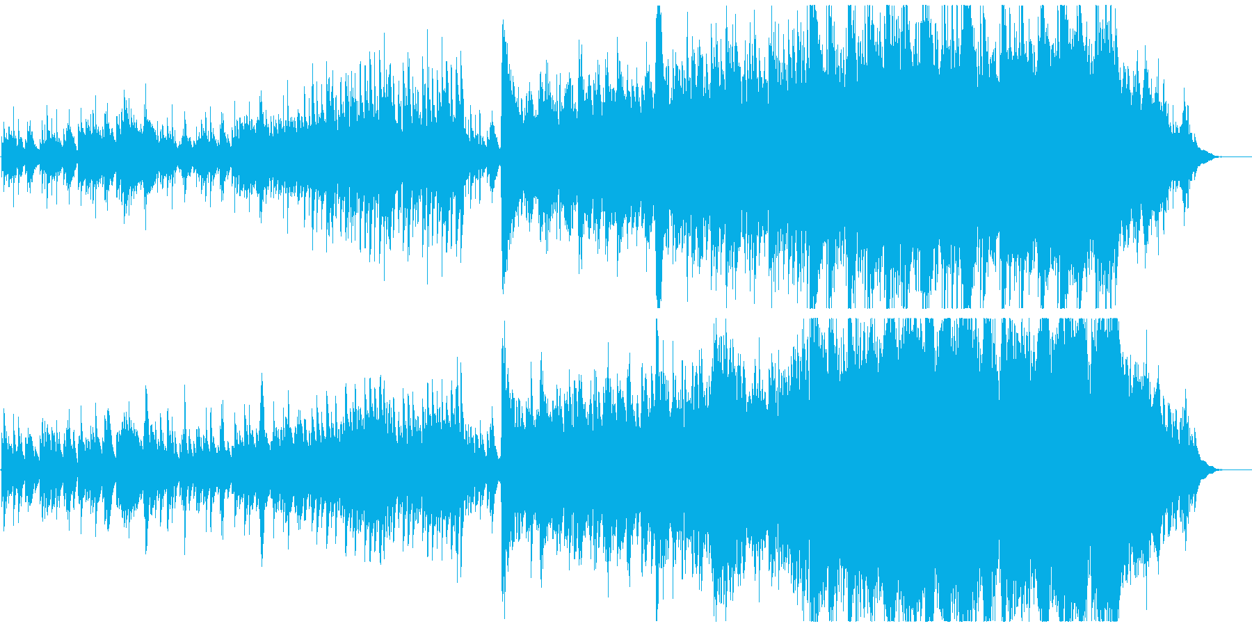 ピアノメインの温かく包み込むような曲の再生済みの波形