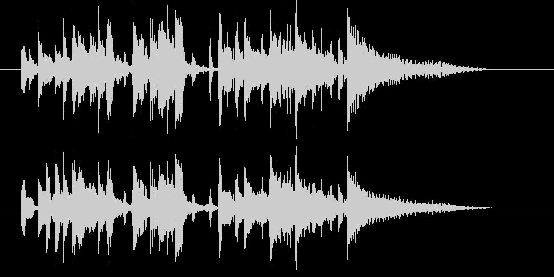 リズミカルでムードのある曲の未再生の波形