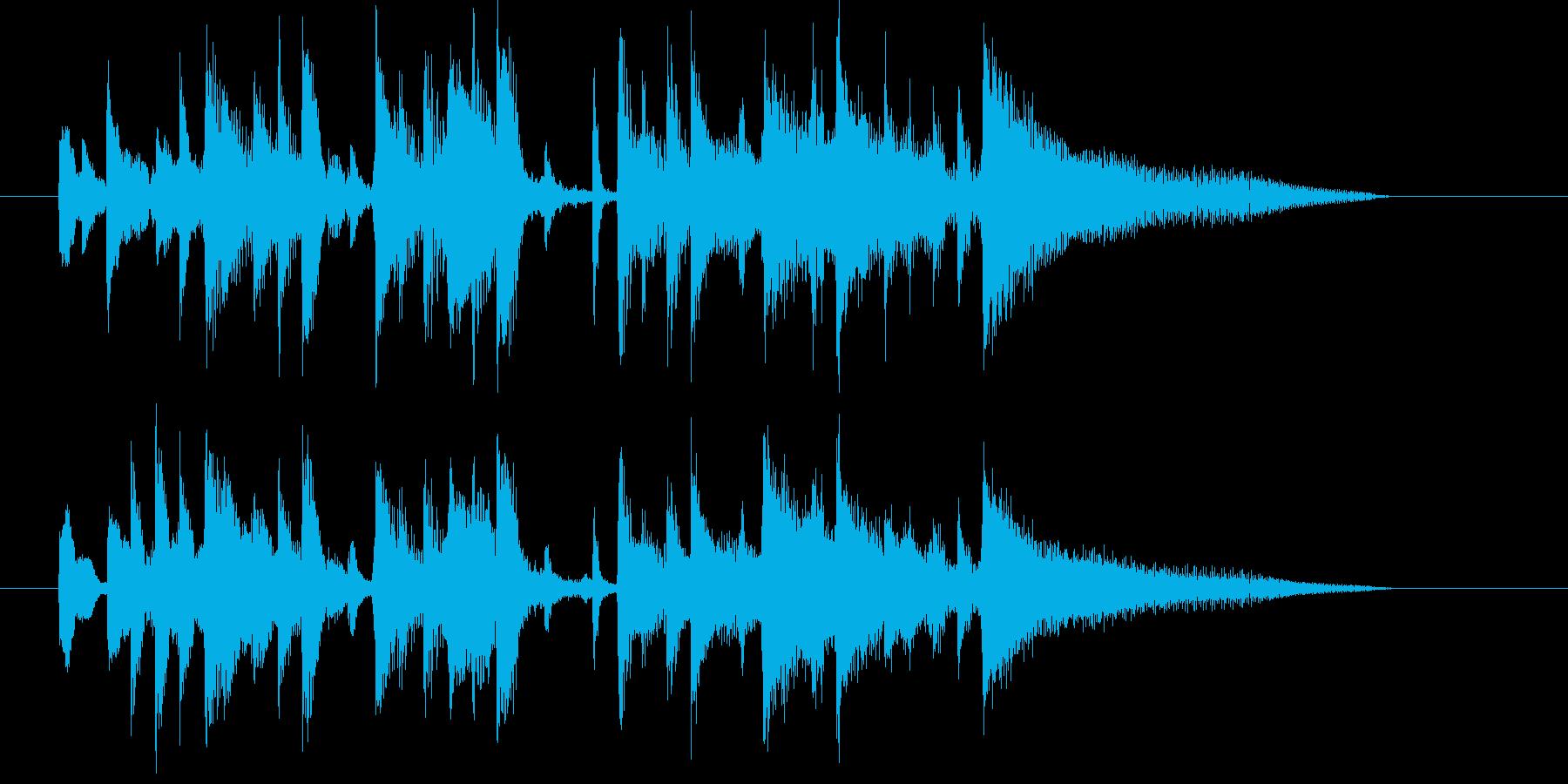 リズミカルでムードのある曲の再生済みの波形
