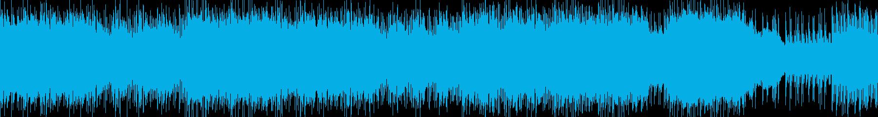 特訓中に流れるロックの再生済みの波形