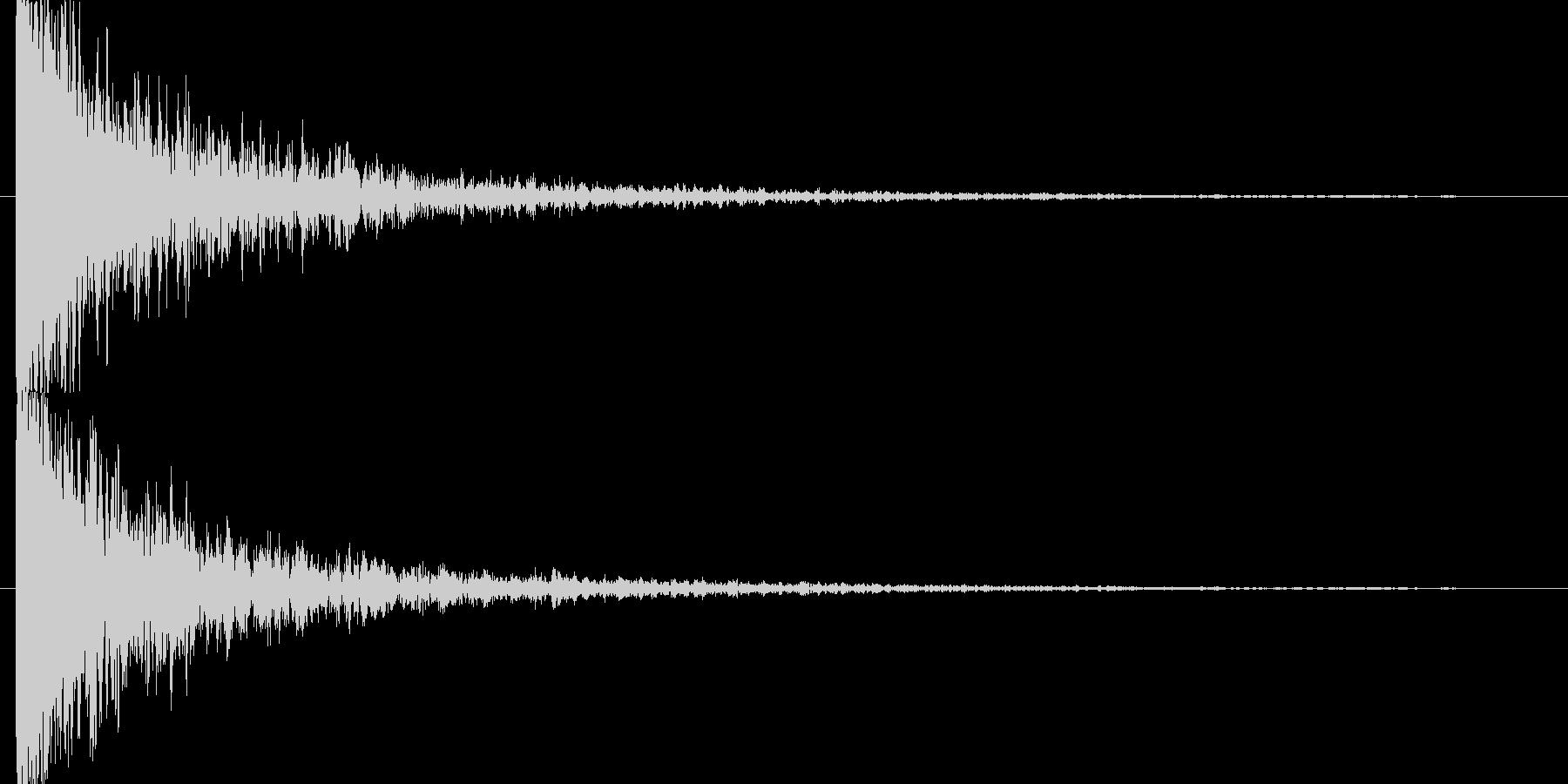 裂けて破裂した音の未再生の波形
