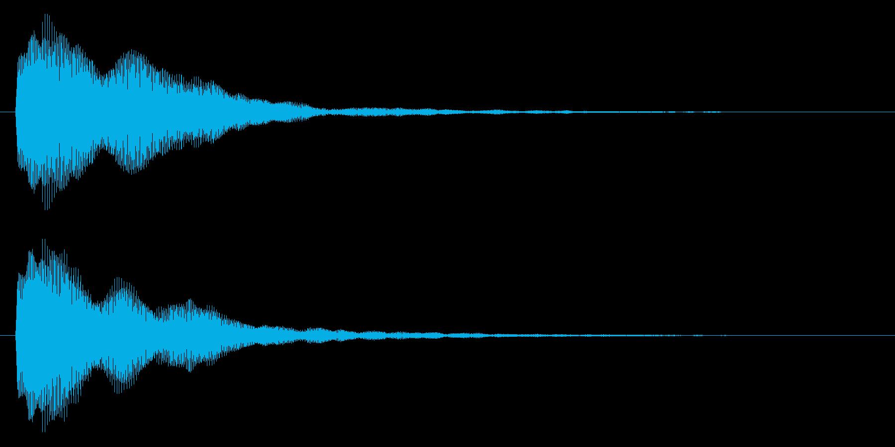 成功/シンプル/かわいいの再生済みの波形