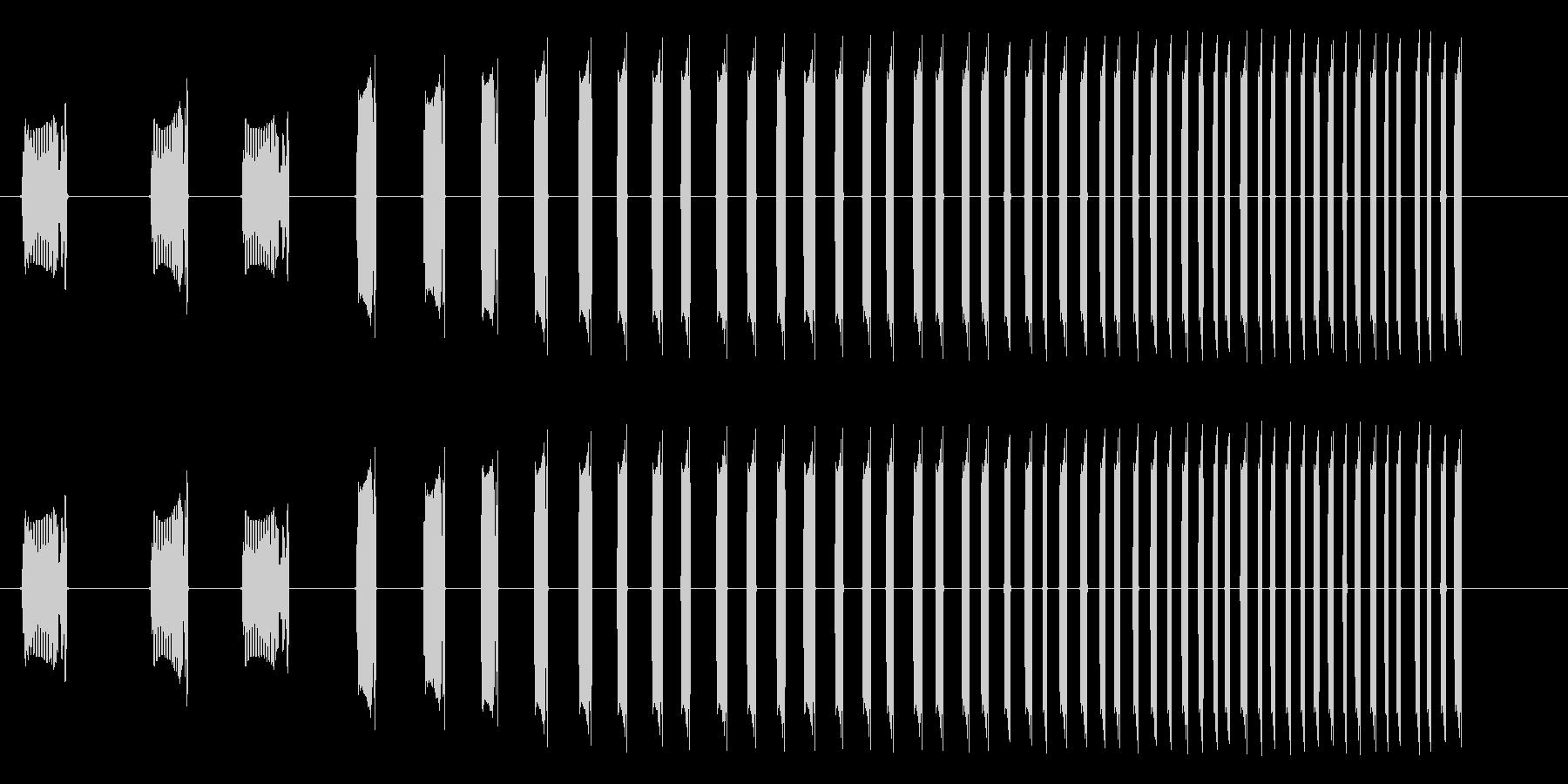 DJミキサー卓での長いスクラッチ音の未再生の波形