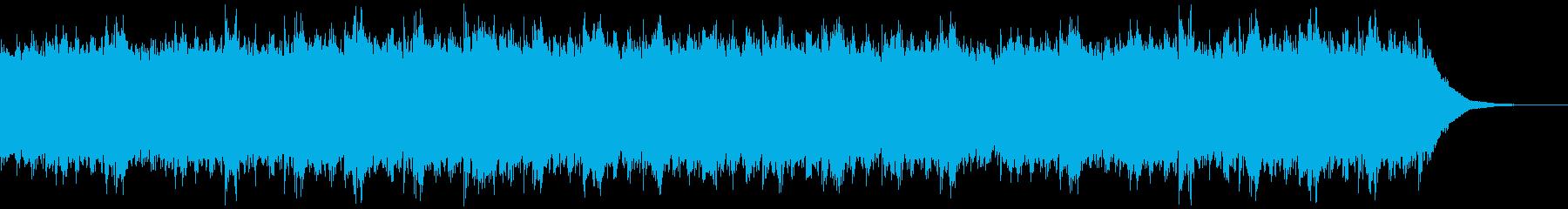 アンビエント、CG抽象的な映像のBGMの再生済みの波形