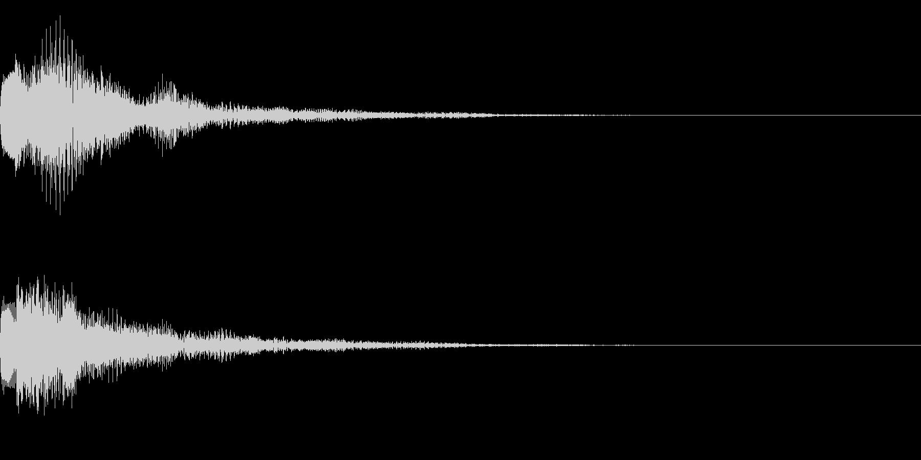 テロップ、ロゴ、注目の未再生の波形