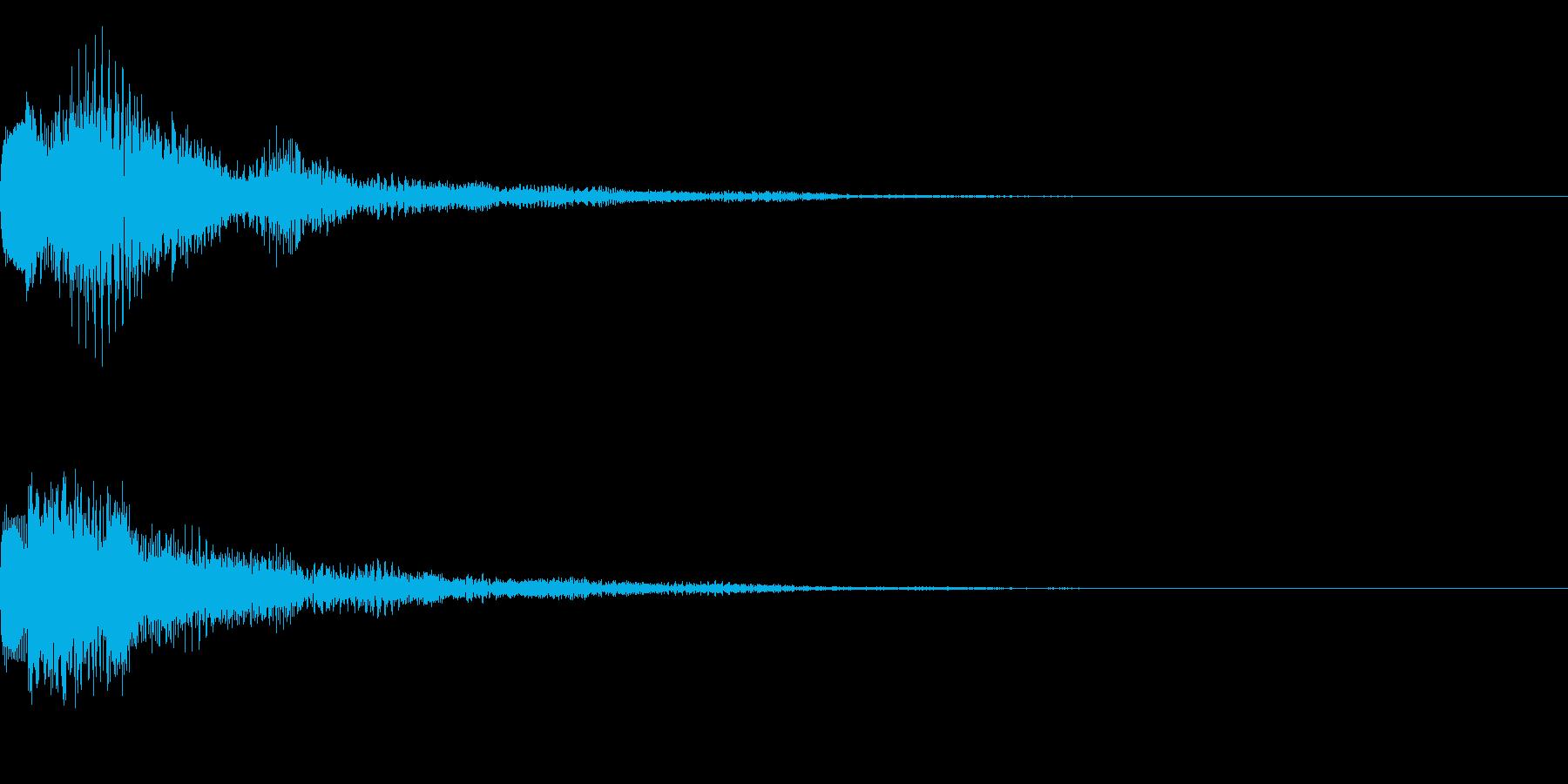 テロップ、ロゴ、注目の再生済みの波形