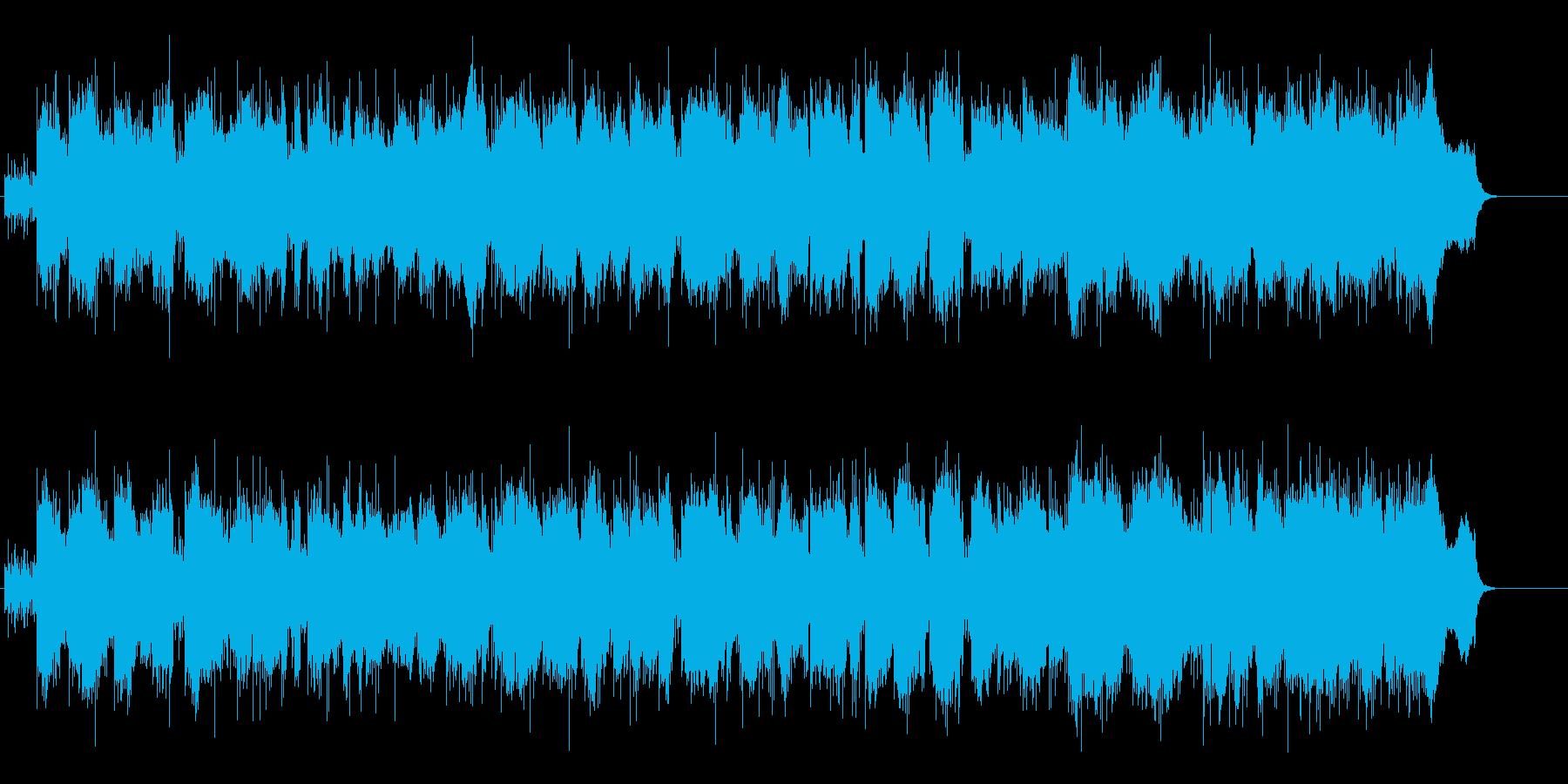ドキュメント向けシリアス・タッチBGMの再生済みの波形