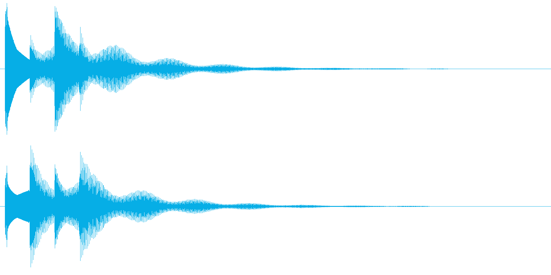 クイズ正解音。ぴんぽんぴんぽーんの再生済みの波形