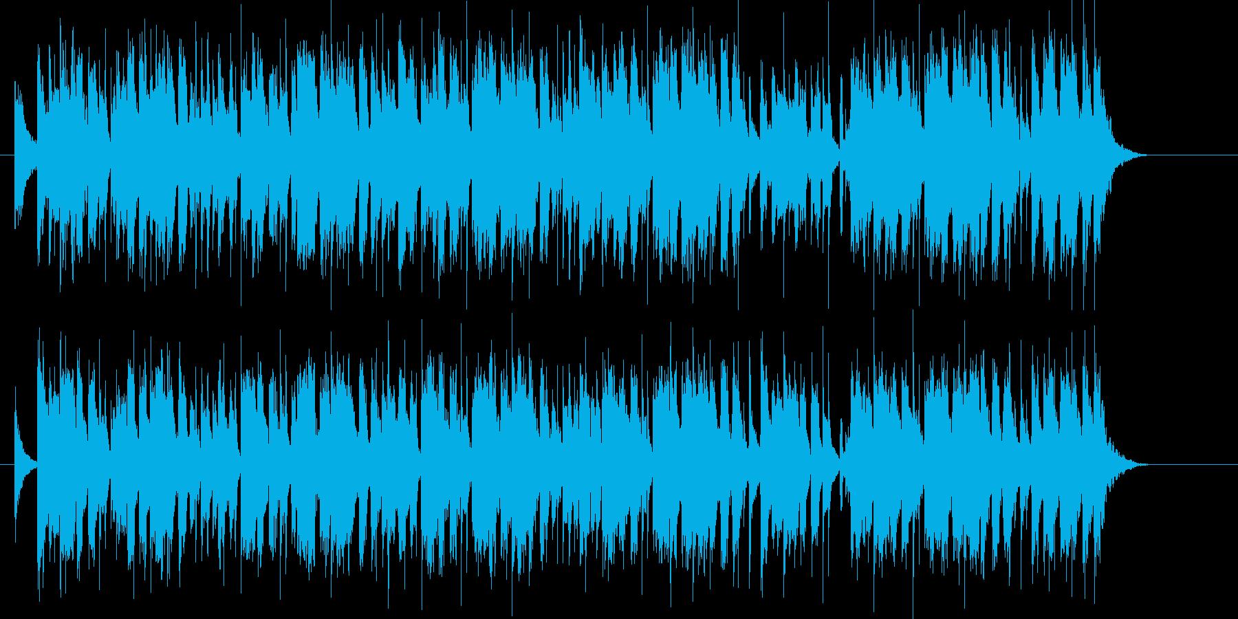 軽快で可憐でリズミカルなポップジングルの再生済みの波形