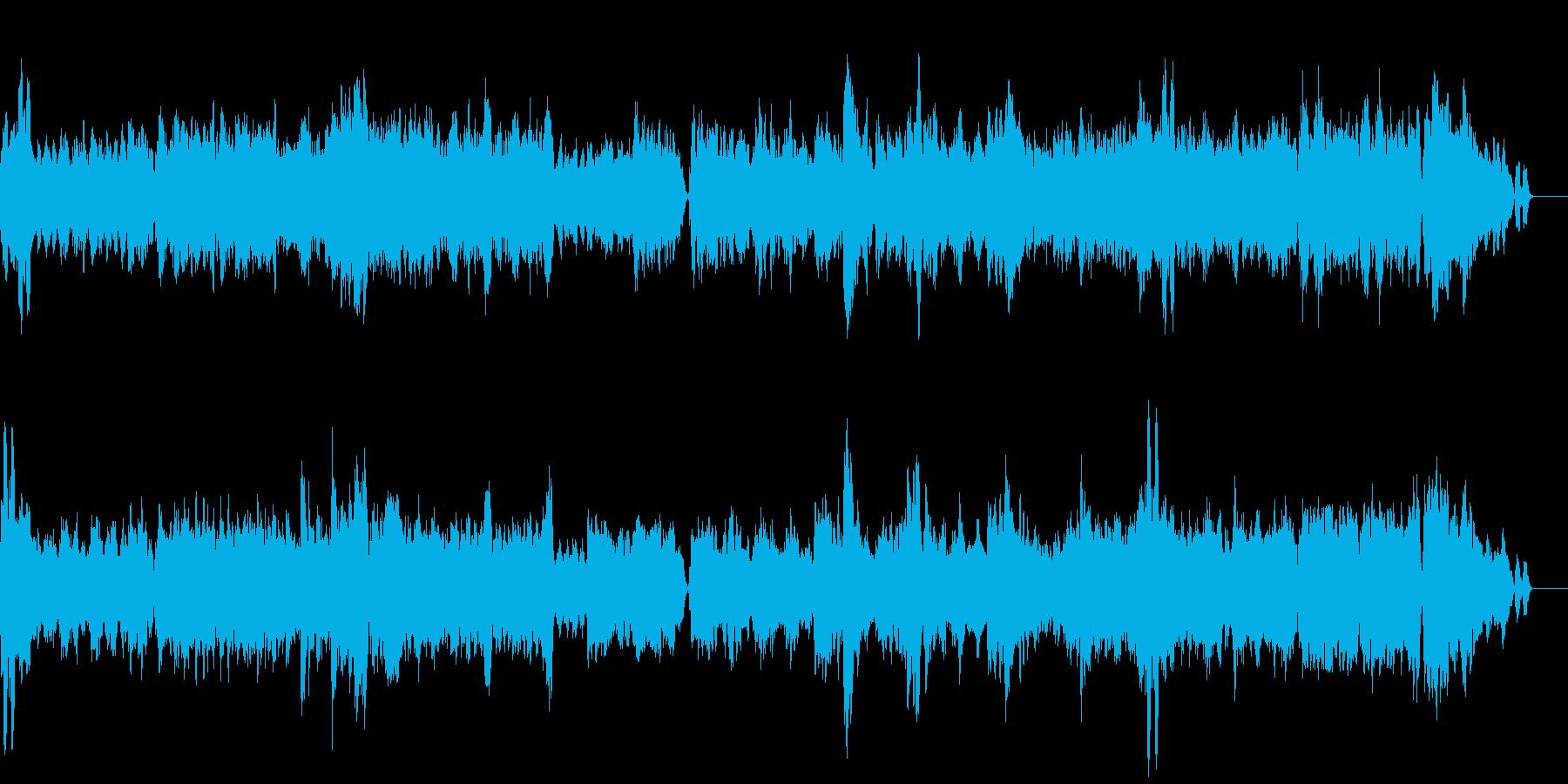 シューマン「流浪の民」の再生済みの波形