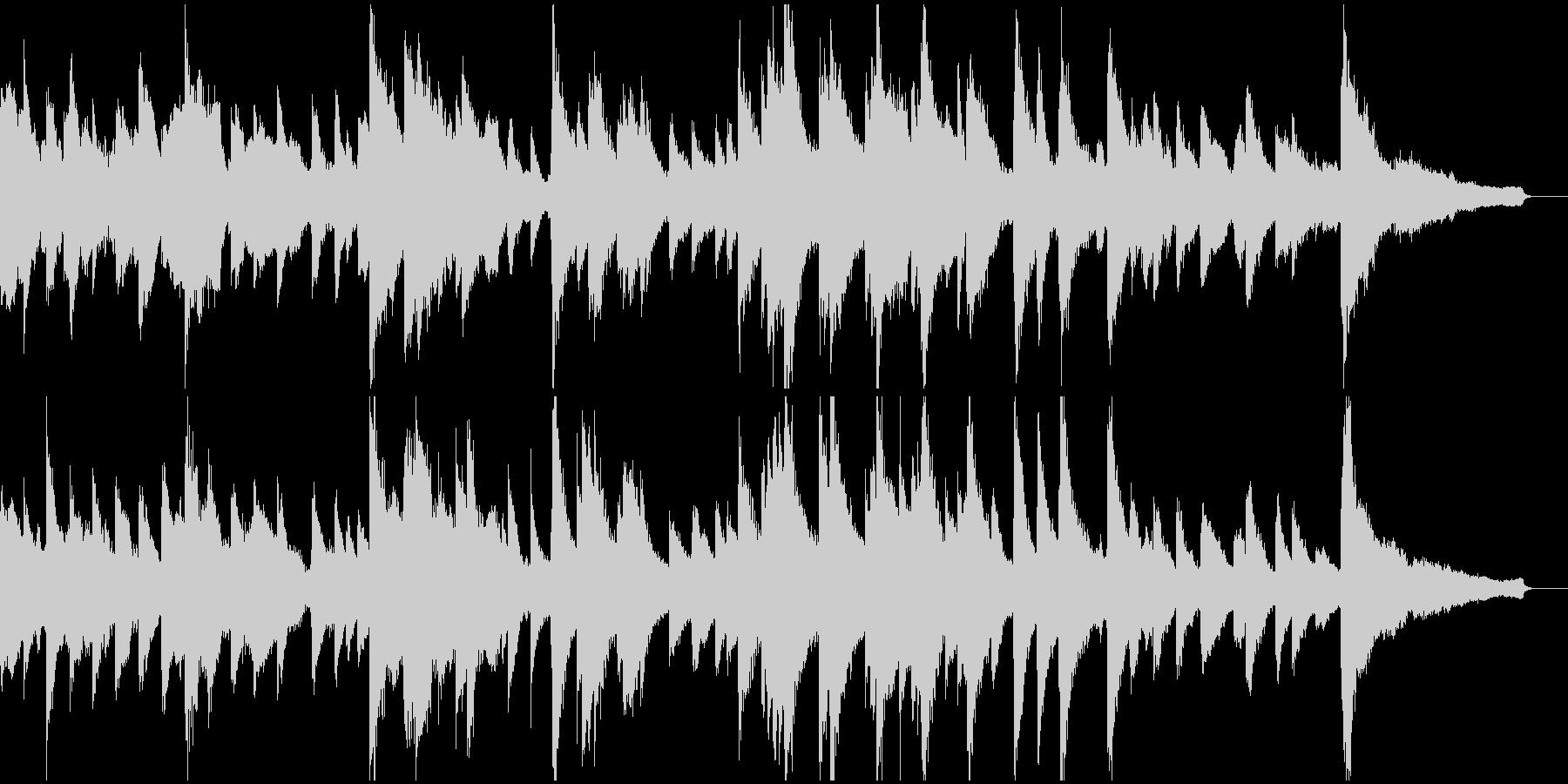 悲しい雰囲気のピアノ&オーケストラ楽曲の未再生の波形