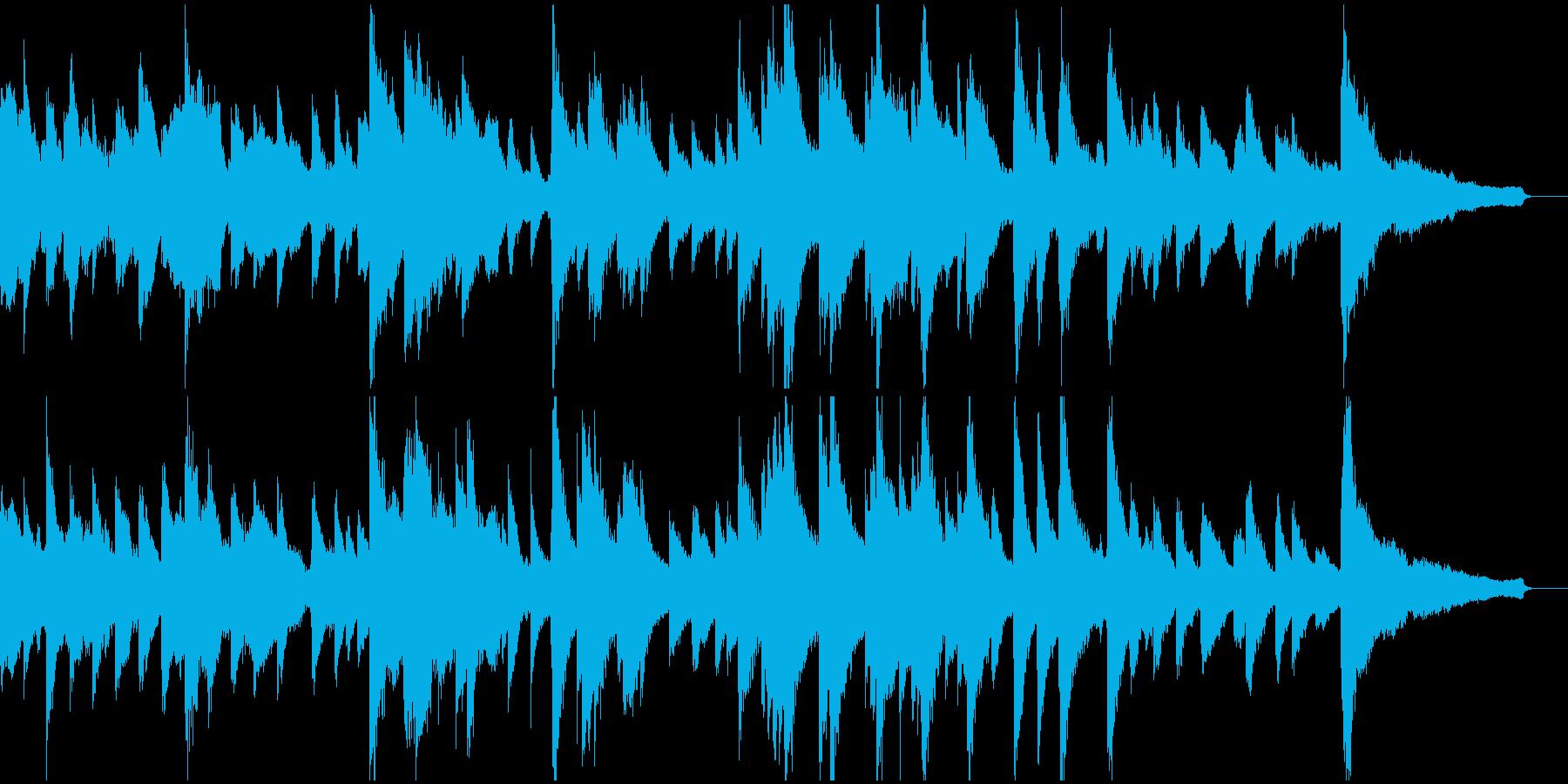 悲しい雰囲気のピアノ&オーケストラ楽曲の再生済みの波形