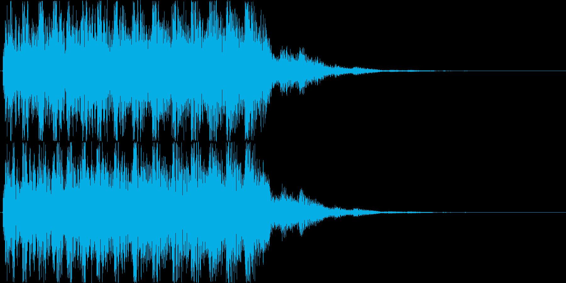 【パワーアップ】ゲームなどの強化系効果音の再生済みの波形