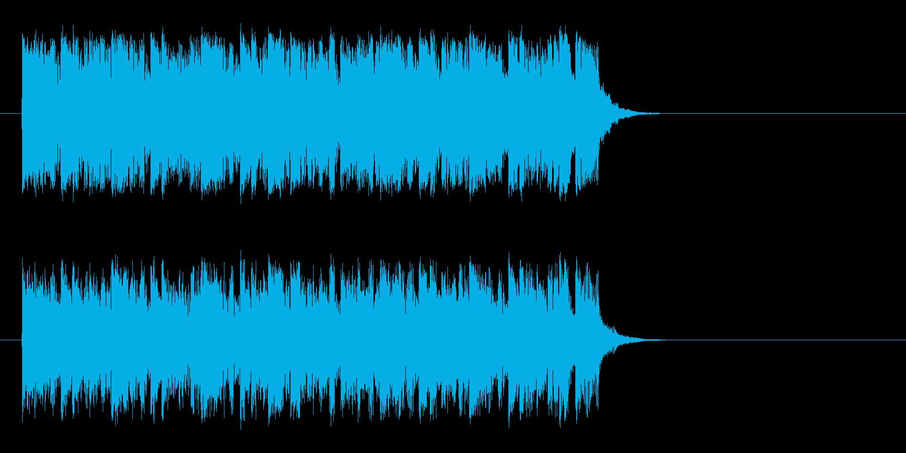 ワクワクする明るいポップ(サビ)の再生済みの波形