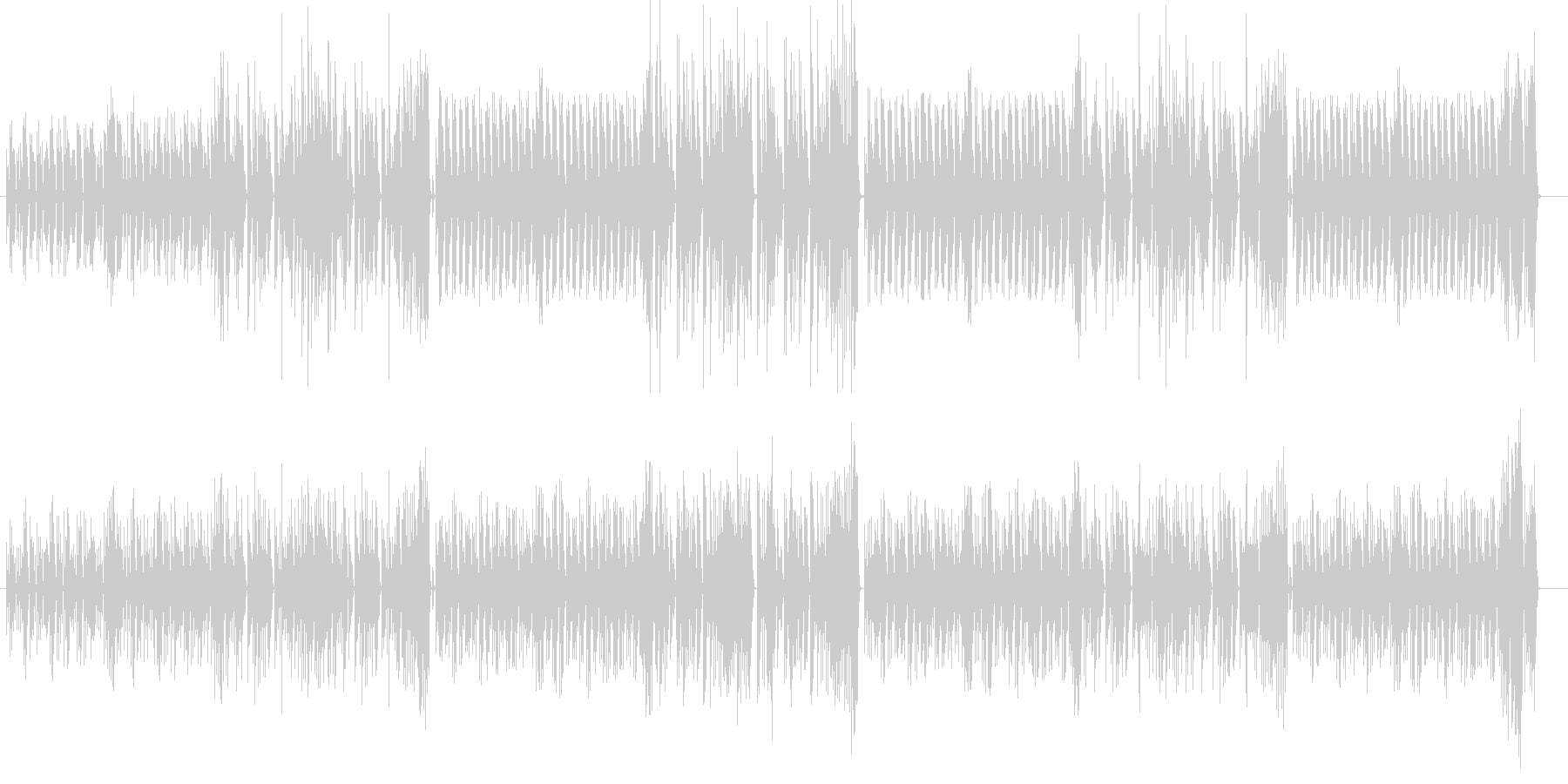愉快で軽快なBGMの未再生の波形