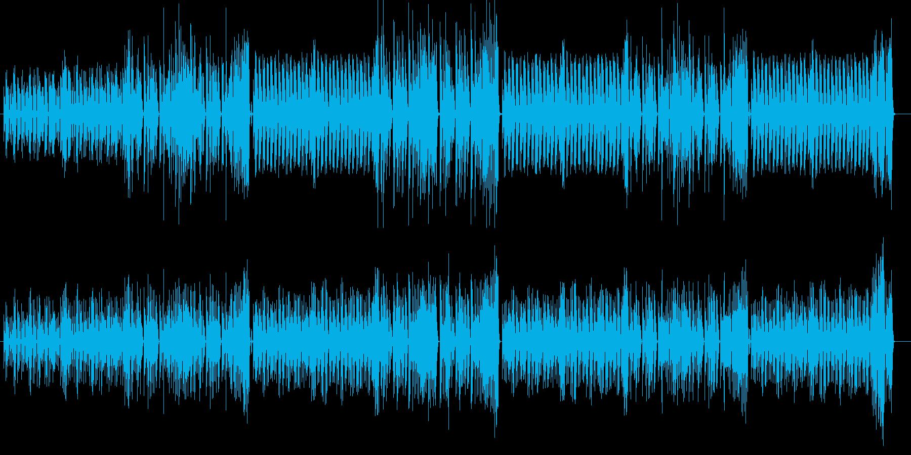愉快で軽快なBGMの再生済みの波形