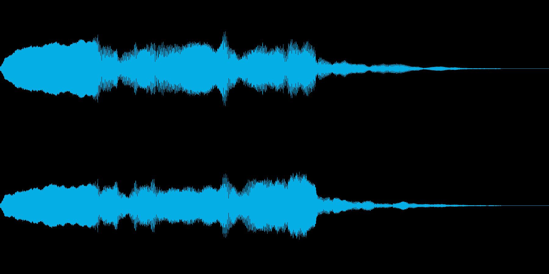 大地や山脈や海に合いそうなサウンドロゴの再生済みの波形