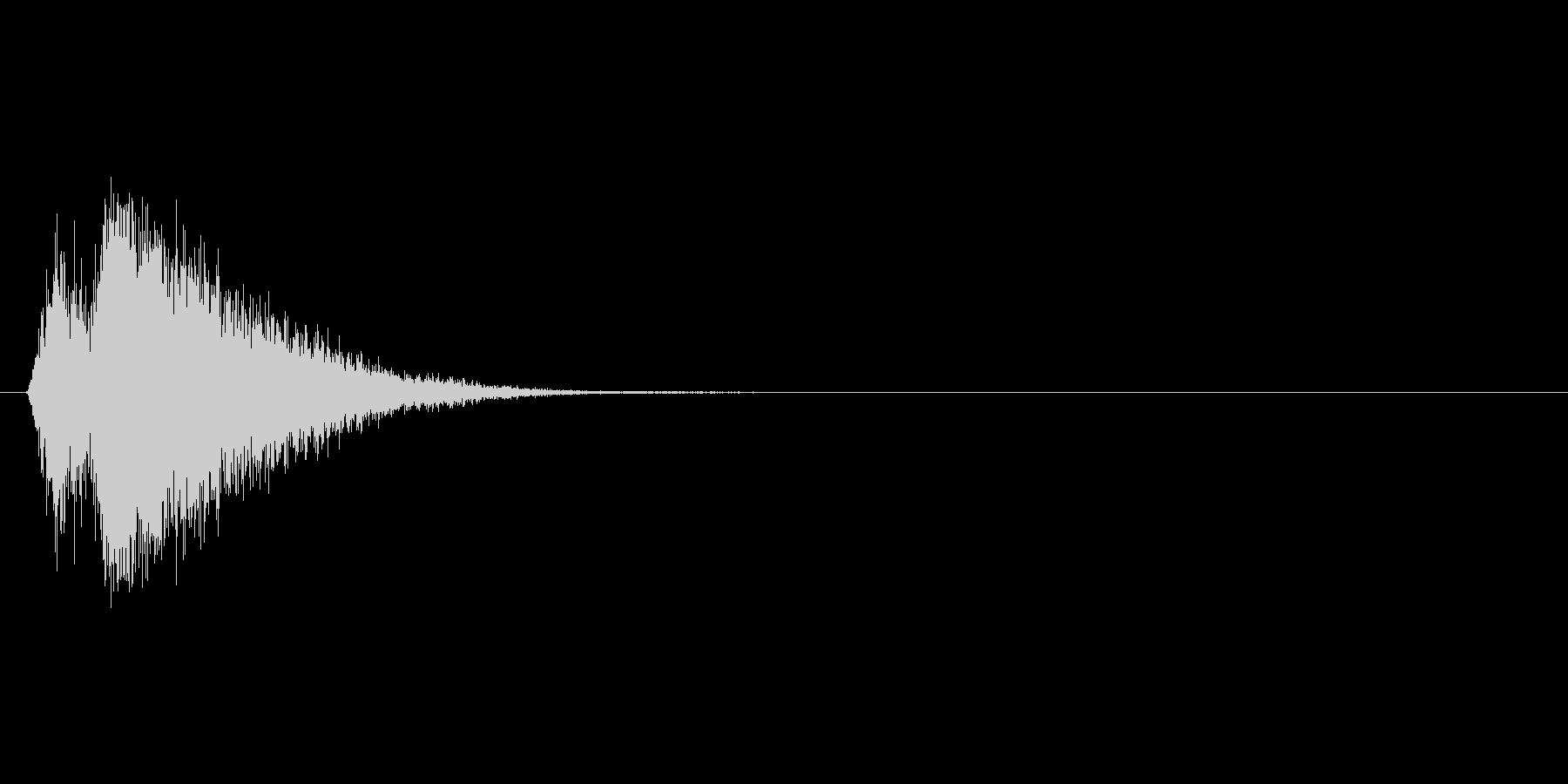 バシュン!勢いよく張り出されるテロップ音の未再生の波形