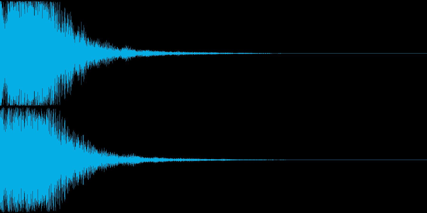 決定音01(ポロン)の再生済みの波形