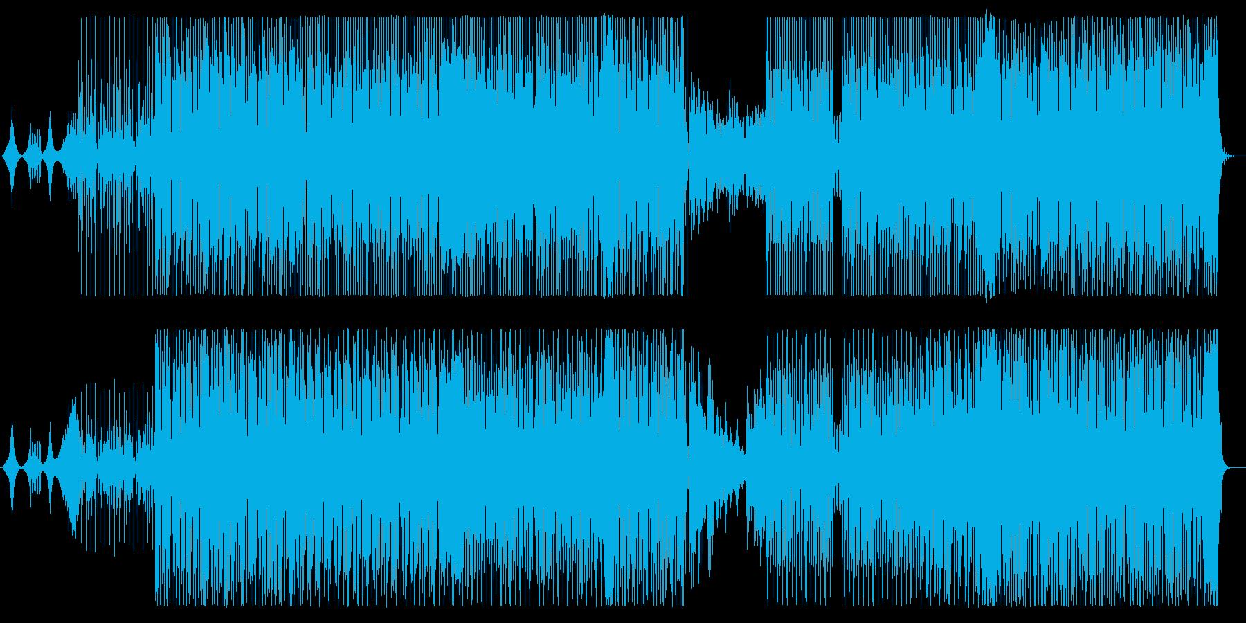不思議でメローな緩やかシンセサウンドの再生済みの波形