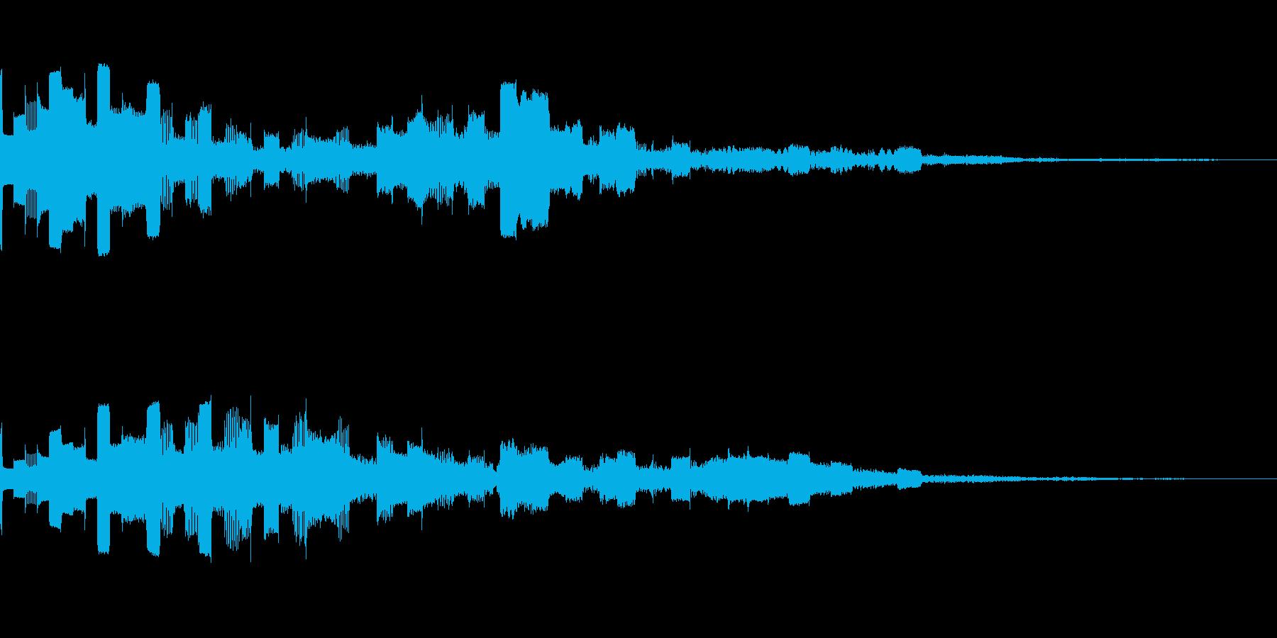 ピココン(電子音_01)の再生済みの波形