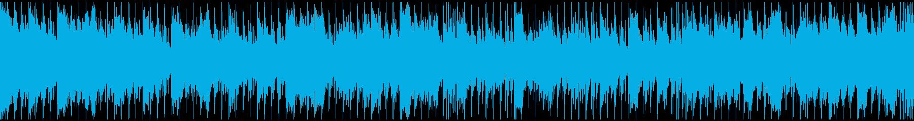 テンポの良いお洒落なハウス【ループ素材】の再生済みの波形