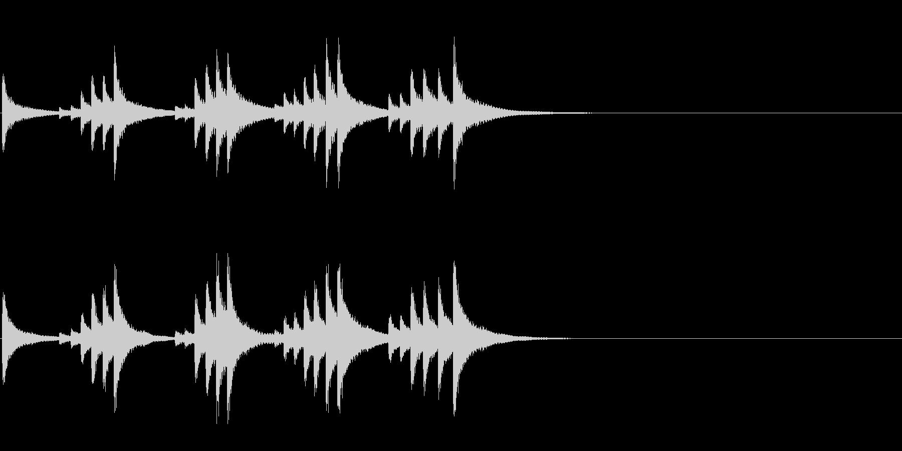 小型の鐘「本つり鐘」のフレーズ音3+Fxの未再生の波形