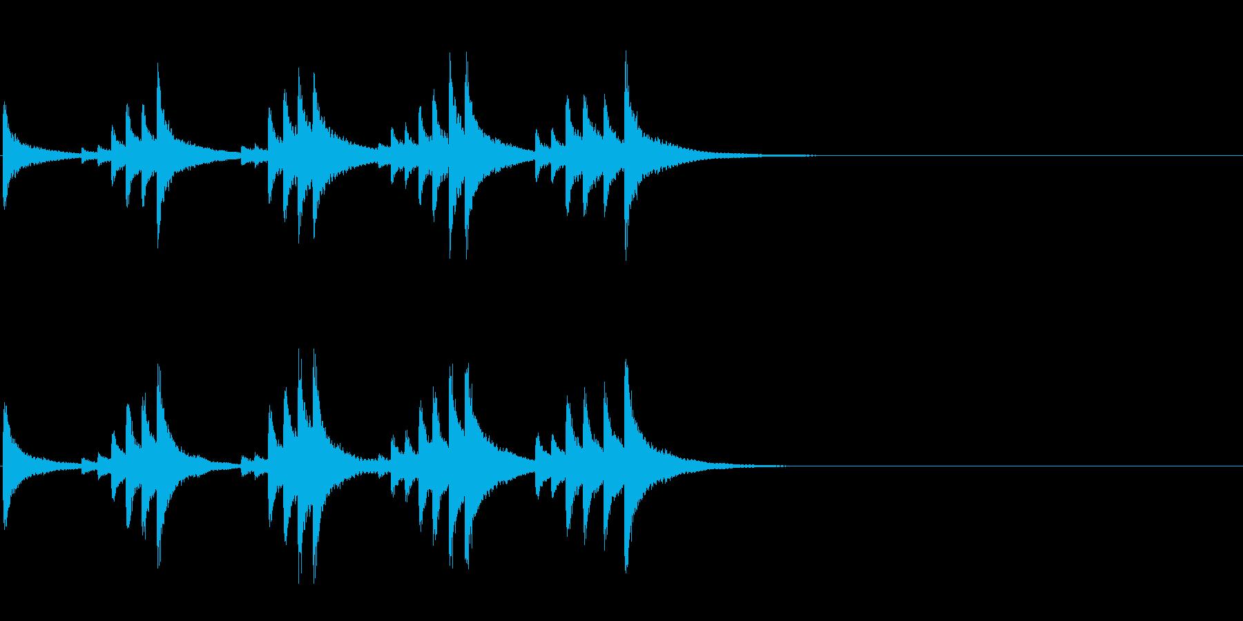 小型の鐘「本つり鐘」のフレーズ音3+Fxの再生済みの波形