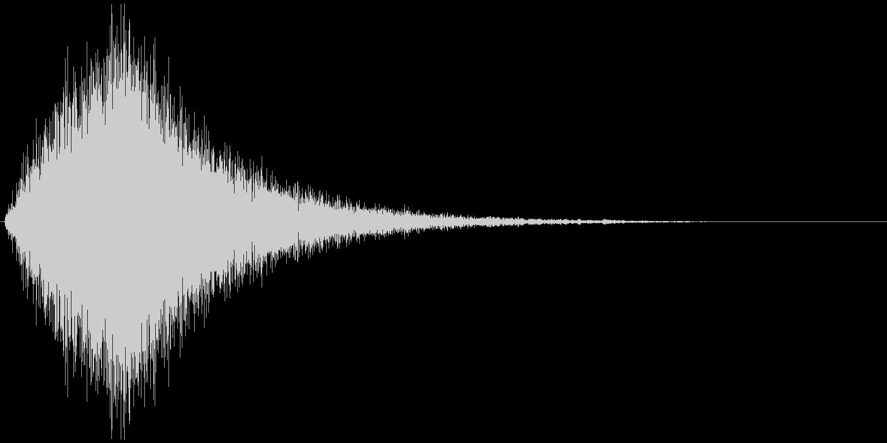 吹き抜ける風の効果音(風魔法、シンセ)の未再生の波形