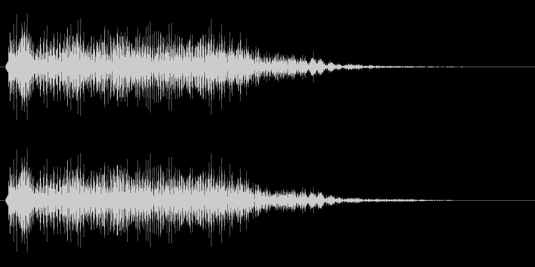 ポワァ(ゲーム・クイズ等でのシステム音)の未再生の波形