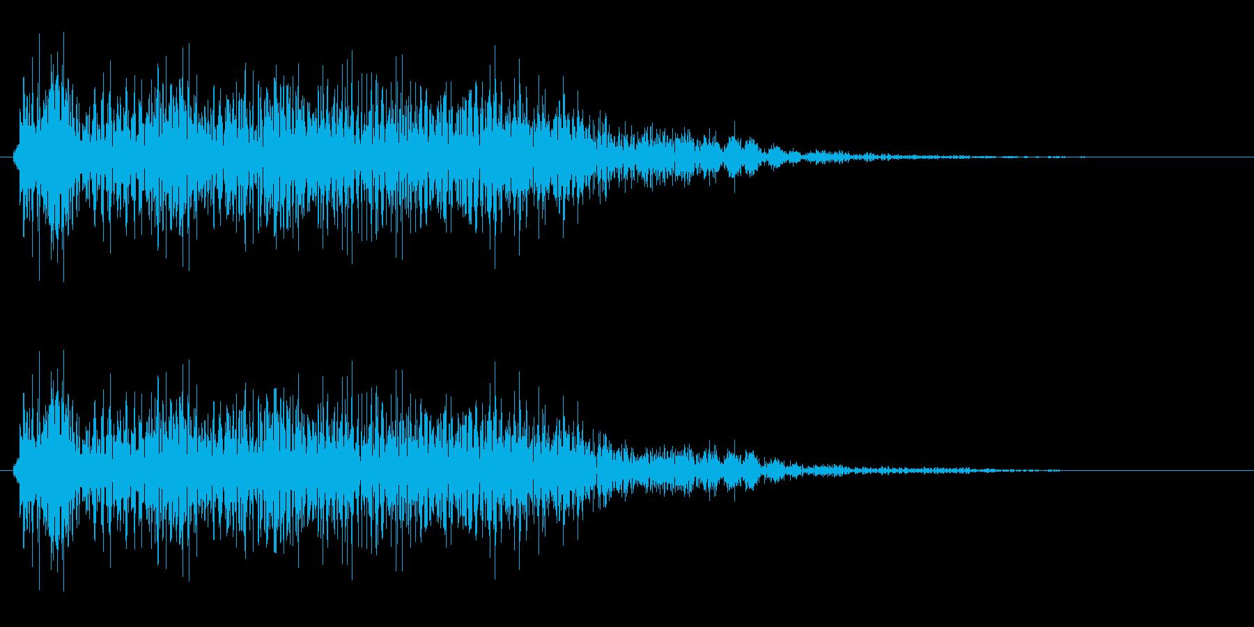 ポワァ(ゲーム・クイズ等でのシステム音)の再生済みの波形