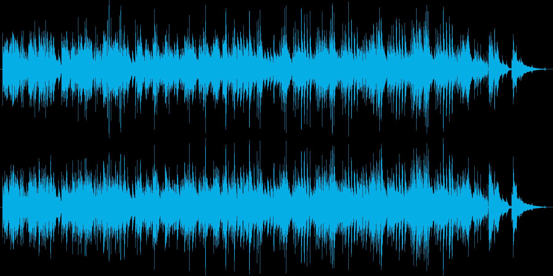 ギターデュオによるほのぼの穏やかな曲の再生済みの波形