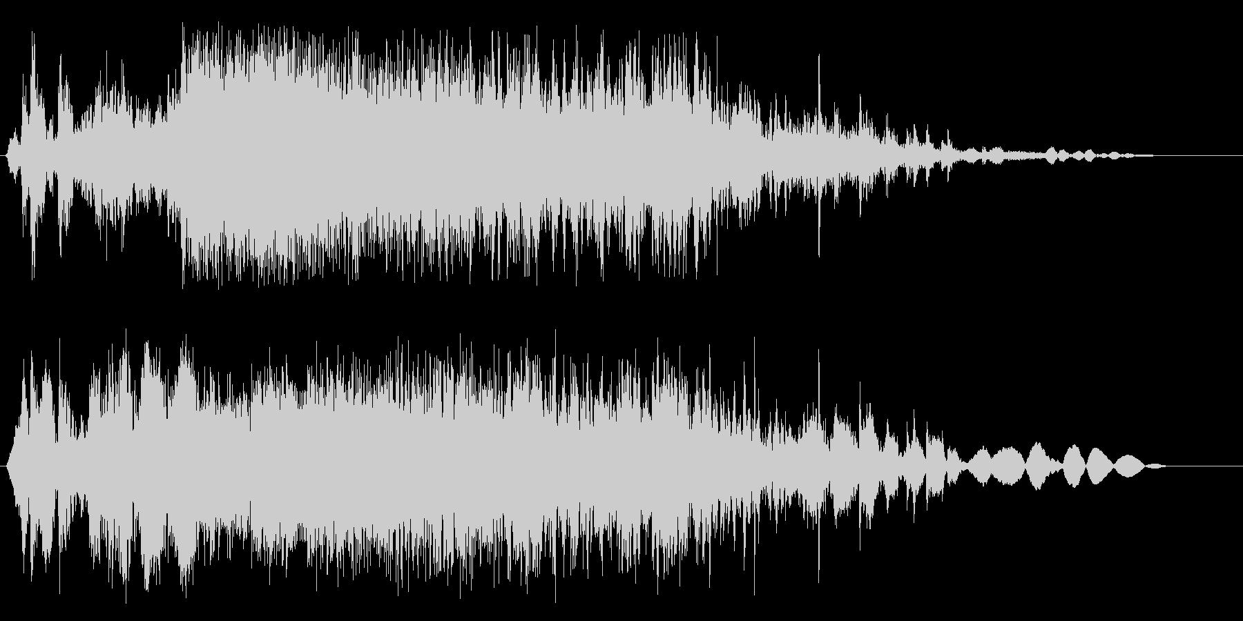 お米を入れる音の効果音の未再生の波形